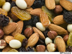 There are many different kinds of dried fruits and nuts. Dried fruit ...