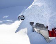 Une voiture « habillée » pour l'hiver