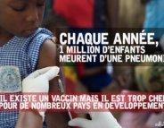 Pneumonie : MSF lance une pétition contre un vaccin trop cher