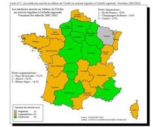 La région Ile-de-France se démédicalise plus rapidement que les autres régions. ©CNOM