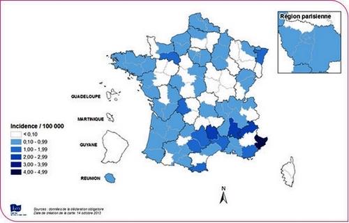 La rougeole résiste dans le Sud-Est de la France