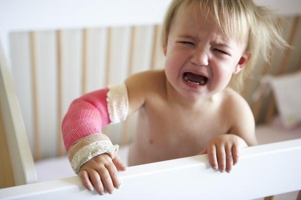 Chaque année, entre 150 et 200 enfants sont victimes d'une chute depuis leur table à langer. ©Phovoir