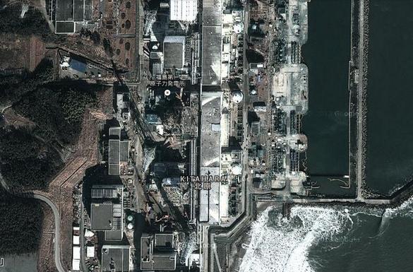 La centrale de Fukushima-Daichi. ©Google Earth