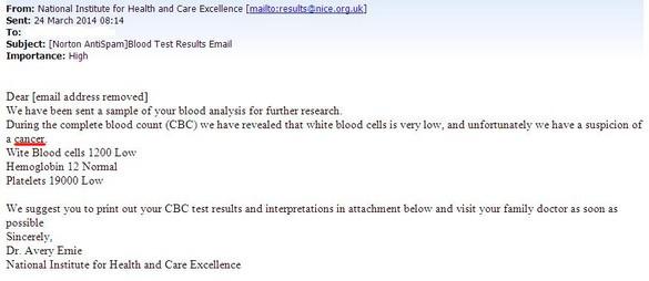 e nombreux Britanniques ont reçu un email provenant à première vue de leur assurance maladie