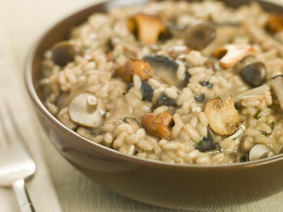 Le riz utilisé pour préparer le risotto doit être rond et collant. ©Phovoir