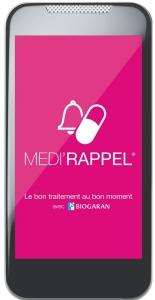 Sur vos mobiles, téléchargez l'appli MEDI'RAPPEL