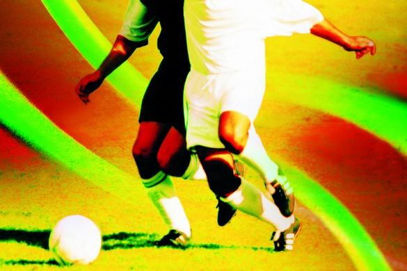 Les joueurs et joueuses de football sont particulièrement exposés à la rupture du LCA. ©Phvoir
