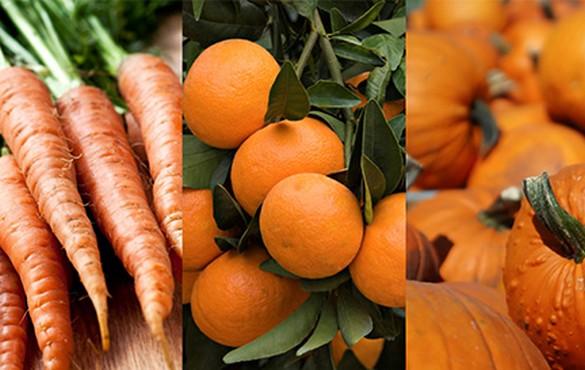 Autant le dire, l'automne et l'hiver ne lésinent pas sur l'orangé ! ©Mangerbouger.fr