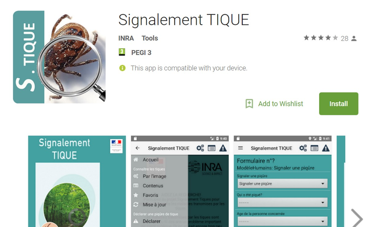APPLICATION TIQUE TÉLÉCHARGER SIGNALEMENT